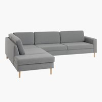 Sofa SVALBARD åpen ende venstre lys grå