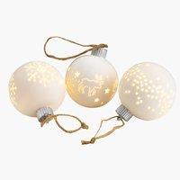 Weihnachtskugel ANGELIT Ø8cm m/LED