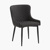 Jedálenská stolička PEBRINGE sivá/čierna