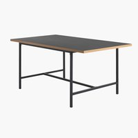 Mesa jantar EGUM 90x160 preto/carvalho