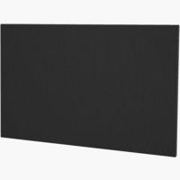 Hoofdeinde 120x115 H10 effen zwart-08