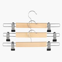 Hangers SIGFRID w/clamps 3 pack