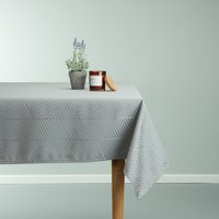 Tablecloth BLOMME 140x240 grey