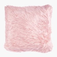 Coussin TAKS 45x45 fausse fourrure rose