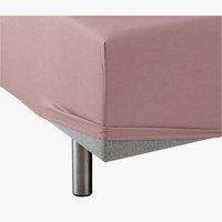 Fitted sheet SKG taupe KRONBORG