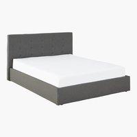 Cadre de lit ALNOR 160x200 gris f./noir