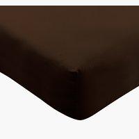 Drap-housse Jersey 90x200x34cm brun
