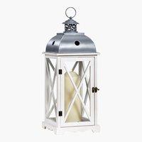 Lanterne BOB l22xL22xH58cm blanc
