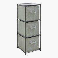 Kommode ENEVOLD mit 3 Boxen schwarz
