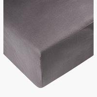 Sábana ajust percal 150x200x28cm gris