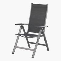 Chaise inclinable LAS VEGAS gris foncé