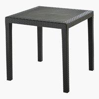 Table NEAPEL 78x78 schwarz