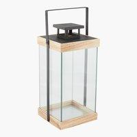 Laterne SKANDI B22xL22xH46cm Glas