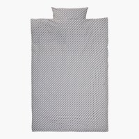 Parure de lit TWEED SGL gris