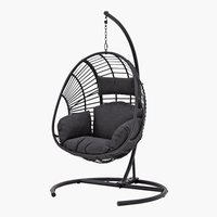 Hanging chair GJERN black