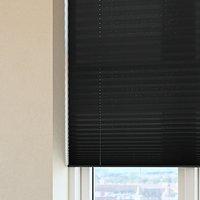 Plisségardin HOVDEN 130x160cm sort
