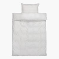 Housse d/CO NELL satin 140x220 blanc