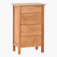 4 drawer chest KAGERUP slim oak