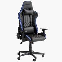 Herní židle RANUM s LED černá