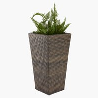 Garden planter BLOMMOR W36xL36xH70 brown