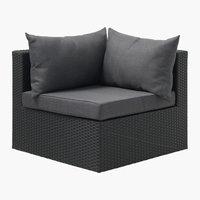 Vrtni lounge kotni modul AJSTRUP črna