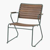 Cadeira lounge GASSUM verde