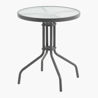 Table bistrot LARISSA Ø60 gris