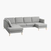 Sofa AARHUS Ecke links grau