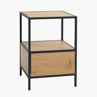 Bedside table TRAPPEDAL 1 drw oak/black