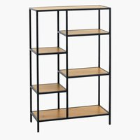 Shelving unit TRAPPEDAL 5 shlv.oak/black