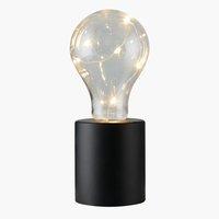 Lámpara a pilas VIGGO Ø7xA19cm con LED