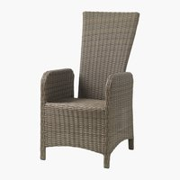 Recliner chair GAMMELBY grey