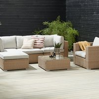Loungeset DALL 5-persoons naturel