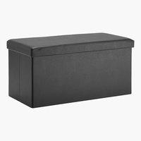 Pouf LADELUND 80x40 con contenitore nero