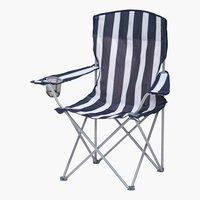 Chaise de camping JESSHEIM bleu/blanc