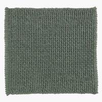 Tappeto bagno NOLVIK 45x50 verde polvere