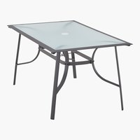 Table MEXICO 88x148 gris