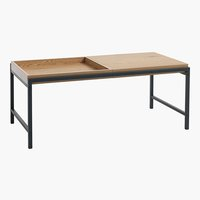 Coffee table TRAPPEDAL 50x100 oak/black