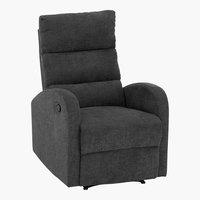 Sillón reclinable NAKSKOV gris oscuro