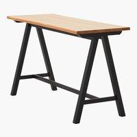 Table de bar SANDBY 71x183 chêne/noir