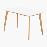 Table BLOKHUS 70x120 blanc/naturel
