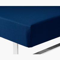 Cearsaf cu elastic 90x200x35cm albastru