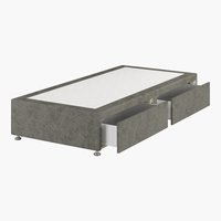 Divan 90x190 GOLD D10 2 drw Grey-50
