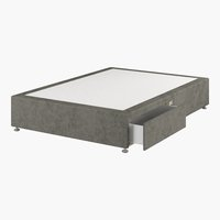 Divan 120x190 GOLD D10 2 drw Grey-50