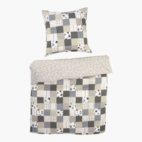 Completo coprip. PATCHWORK KING grigio