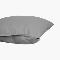 Funda almohada satén 45x75 gris KRONBORG