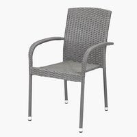 Stacking chair HALDBJERG grey