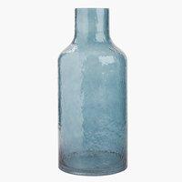 Váza HEINO Ø18xV40 cm modrá