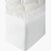 Drap-housse satin 180x200x30cm blanc
