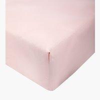 Lenzuolo con angoli 180x200x25cm rosa